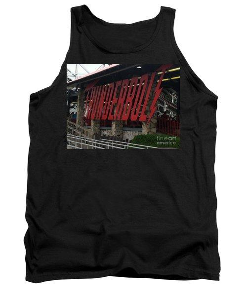 Thunderbolt Roller Coaster Tank Top by Michael Krek