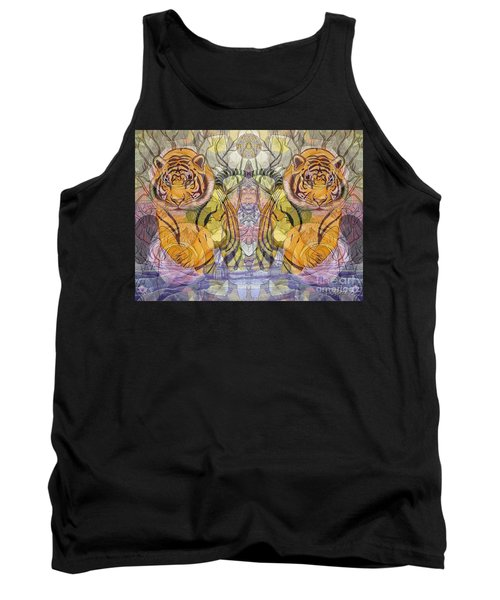 Tiger Spirits In The Garden Of The Buddha Tank Top