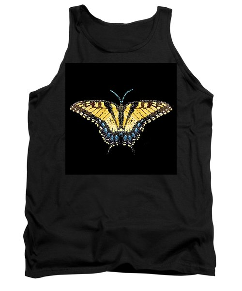 Tiger Swallowtail Butterfly Bedazzled Tank Top