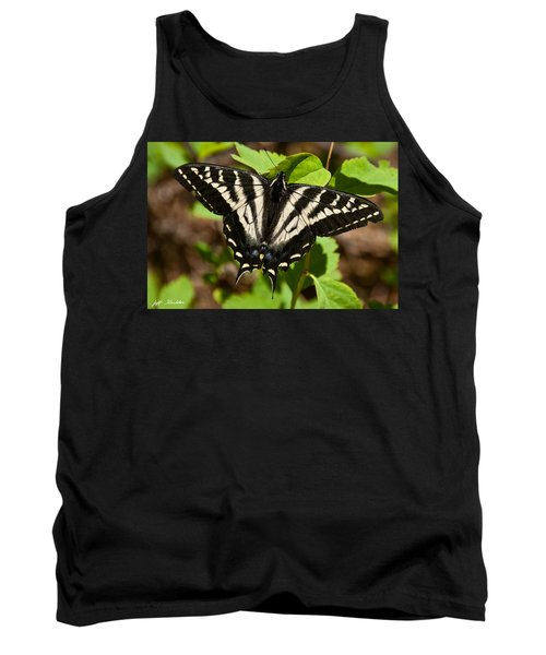 Tank Top featuring the photograph Tiger Swallowtail Butterfly by Jeff Goulden