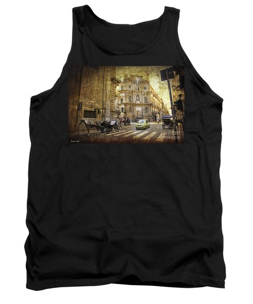 Time Traveling In Palermo - Sicily Tank Top by Madeline Ellis
