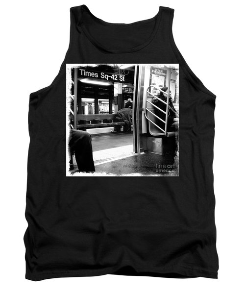 Tank Top featuring the photograph Times Square - 42nd St by James Aiken