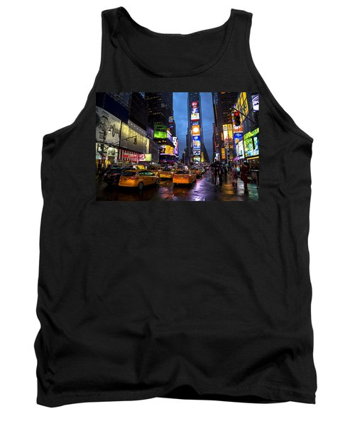 Times Square In The Rain Tank Top