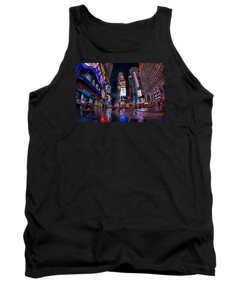 Times Square New York City The City That Never Sleeps Tank Top by Susan Candelario