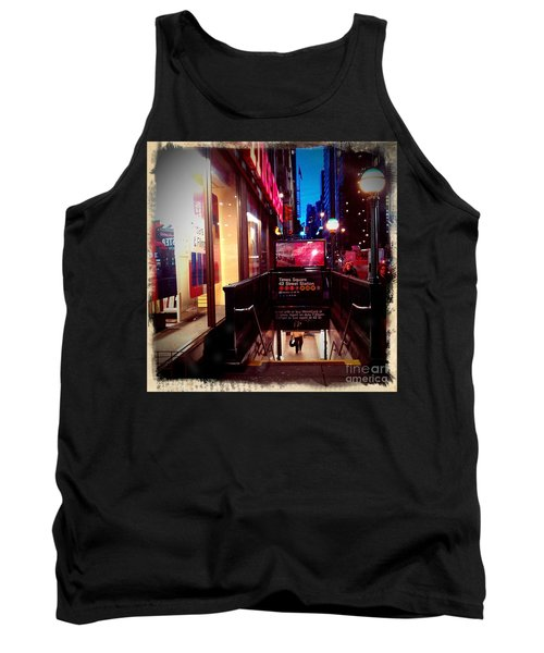 Tank Top featuring the photograph Times Square Station by James Aiken