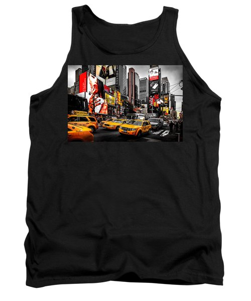 Times Square Taxis Tank Top by Az Jackson