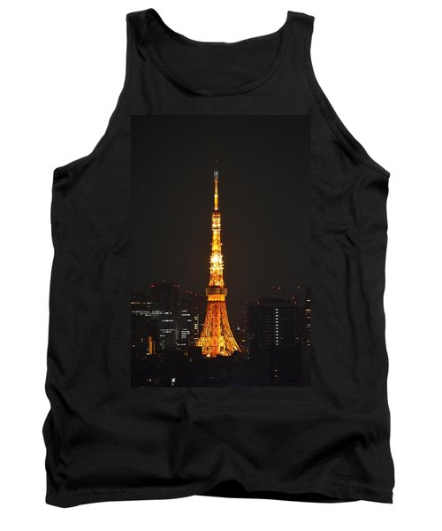 Tokyo Tower And Skyline At Night From Shinagawa Tank Top by Jeff at JSJ Photography