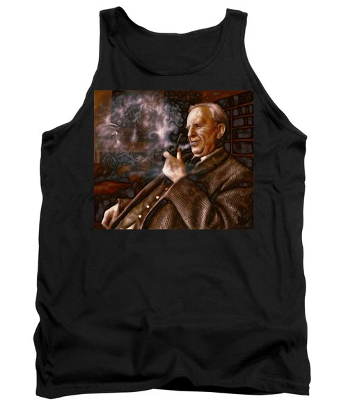 Tank Top featuring the painting Tolkien Daydreams by Dave Luebbert