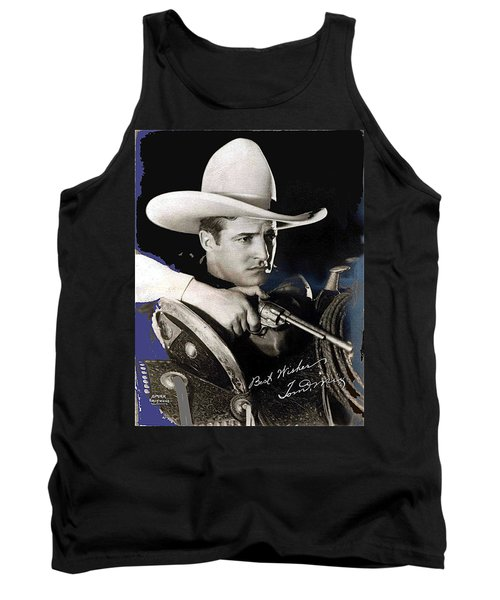 Tom Mix Portrait Melbourne Spurr Hollywood California C.1925-2013 Tank Top by David Lee Guss
