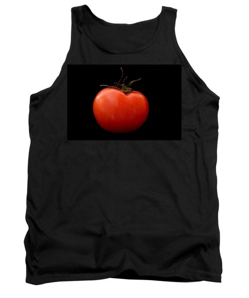Tomato On Black Tank Top