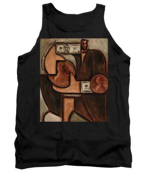 Tommervik Abstract Abraham Lincoln Penny Art Print Tank Top