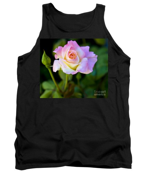 Tank Top featuring the photograph Rose-touch Me Softly by David Millenheft