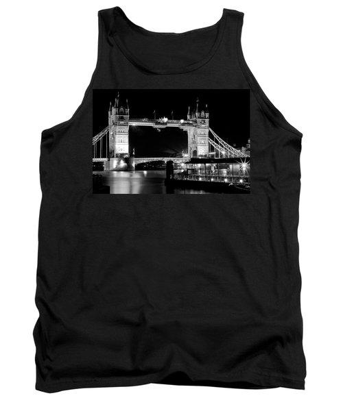 Tank Top featuring the photograph Tower Bridge At Night by Maj Seda