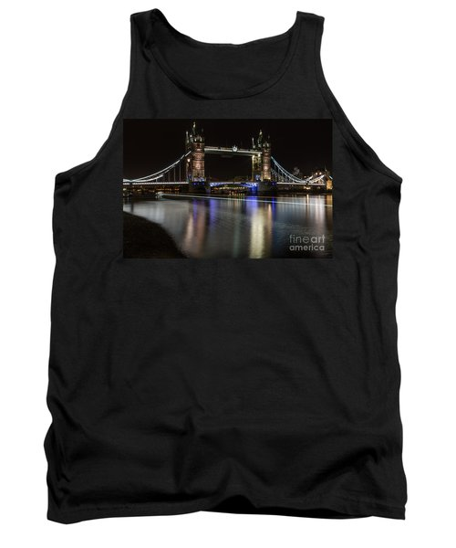 Tower Bridge With Boat Trails Tank Top