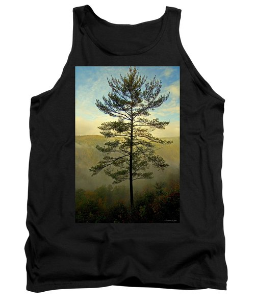 Tank Top featuring the photograph Towering Pine by Suzanne Stout