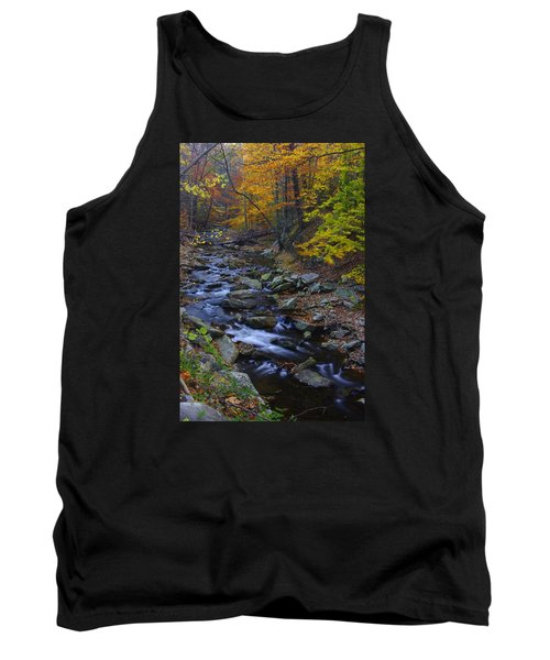 Tracking Color - Big Hunting Creek Catoctin Mountain Park Maryland Autumn Afternoon Tank Top by Michael Mazaika