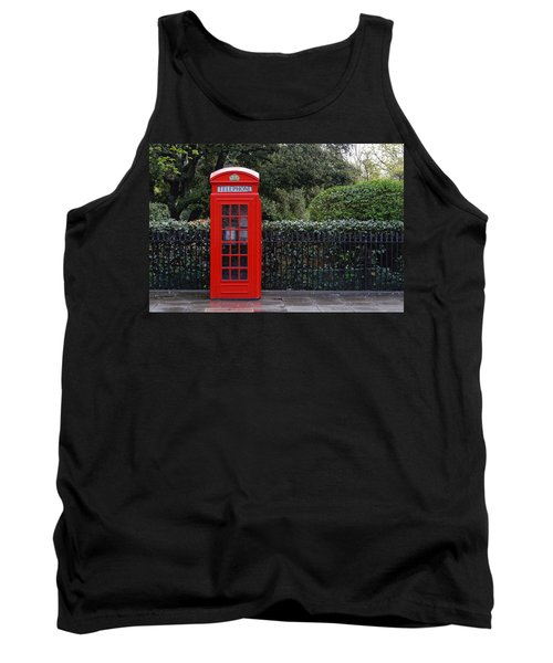 Traditional Red Telephone Box In London Tank Top