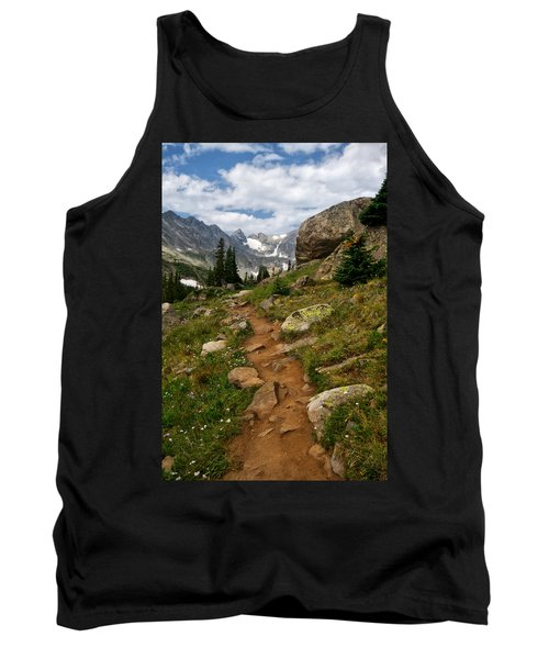 Tank Top featuring the photograph Trail To Lake Isabelle by Ronda Kimbrow