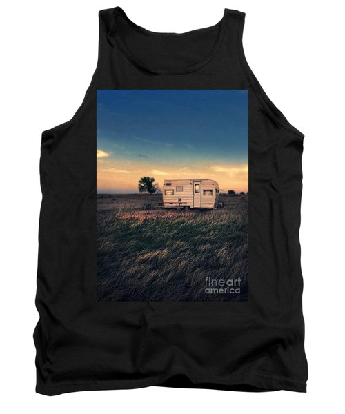 Trailer At Dusk Tank Top by Jill Battaglia