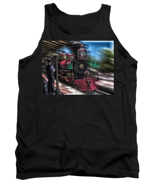 Train Ride Magic Kingdom Tank Top by Thomas Woolworth