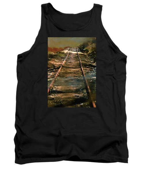 Train Track To Hell Tank Top by RC deWinter