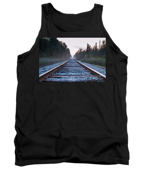 Tank Top featuring the photograph Train Tracks To Nowhere by Patrick Shupert