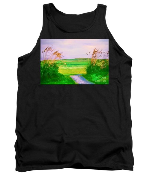 Tralee Ireland Water Color Effect Tank Top by Tom Prendergast