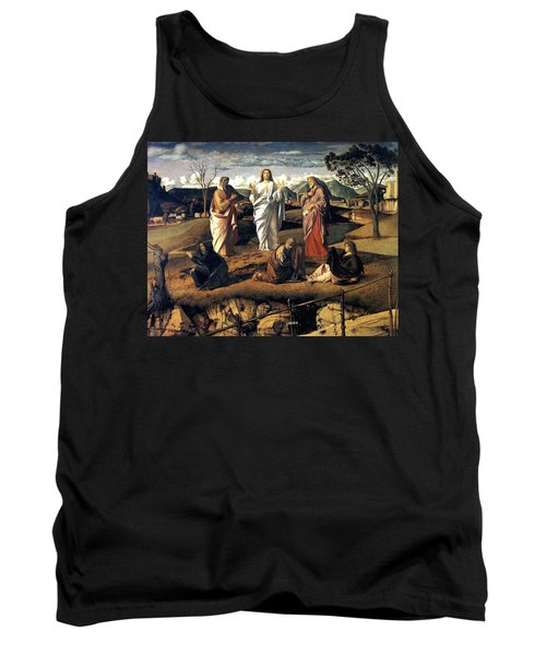 Tank Top featuring the painting Transfiguration Of Christ 1487 Giovanni Bellini by Karon Melillo DeVega