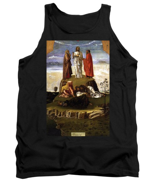 Tank Top featuring the painting Transfiguration Of Christ On Mount Tabor 1455 Giovanni Bellini by Karon Melillo DeVega
