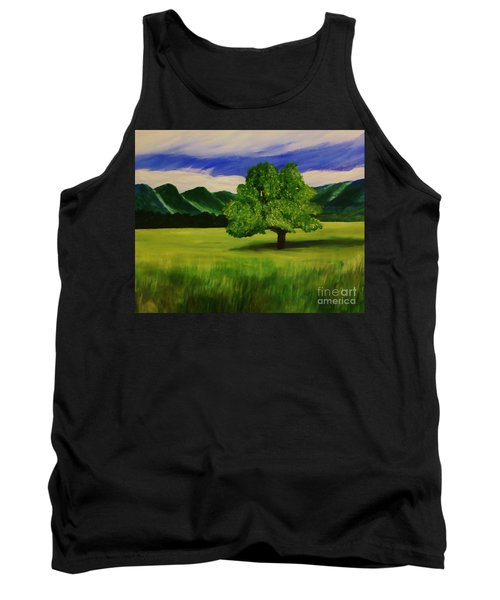 Tree In A Field Tank Top by Christy Saunders Church