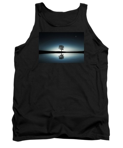 Tree Near Lake At Night Tank Top