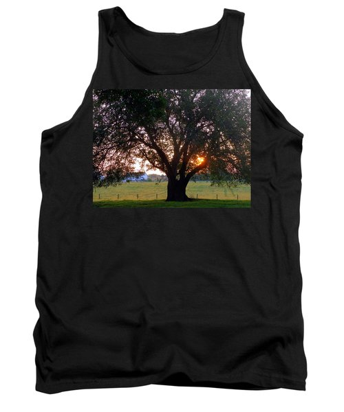 Tree With Fence. Tank Top