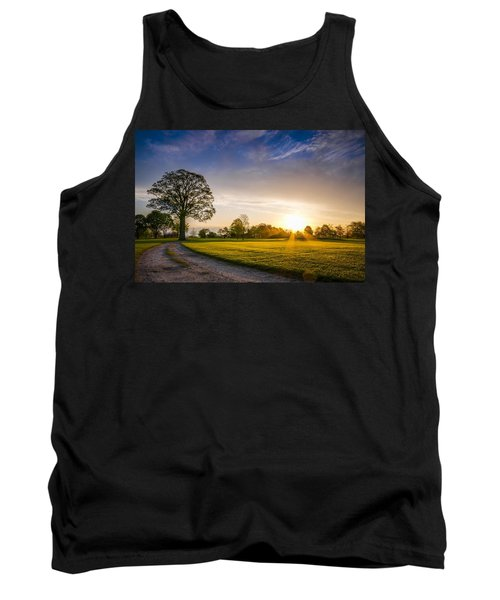 Trees At Dawn On Golf Course Tank Top