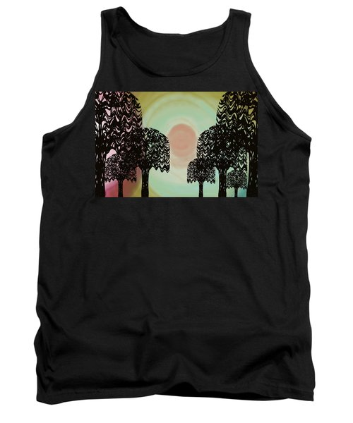 Trees Of Light Tank Top by Christine Fournier