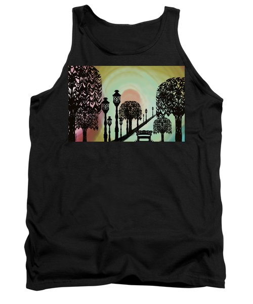 Trees Of Lights Tank Top by Christine Fournier