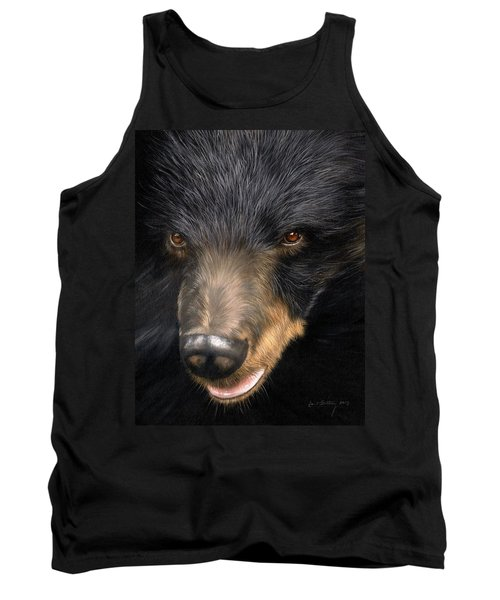 Trixie Moon Bear - In Support Of Animals Asia Tank Top by David Stribbling
