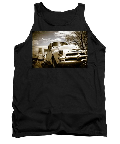 Tank Top featuring the photograph Truck And Trailer by Steven Bateson