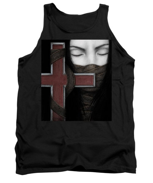 Tank Top featuring the painting Tu Non by Pat Erickson