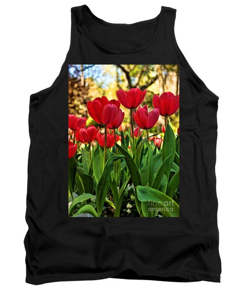Tank Top featuring the photograph Tulip Time by Peggy Hughes