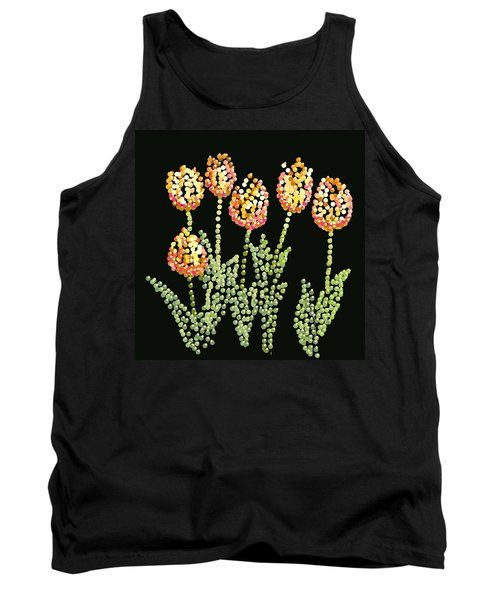 Tulips Bedazzled Tank Top