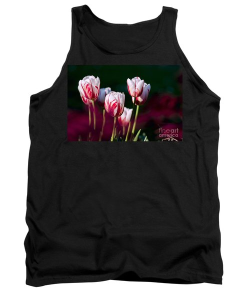 Tank Top featuring the photograph Tulips Garden Flowers Color Spring Nature by Paul Fearn