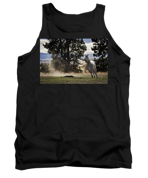 Tank Top featuring the photograph Turning On A Dime D3512 by Wes and Dotty Weber