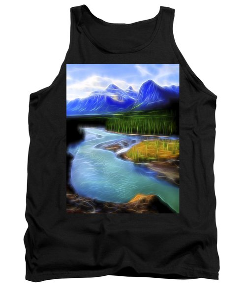 Tank Top featuring the digital art Turquoise Light 1 by William Horden