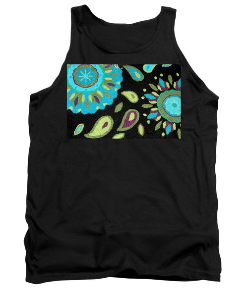 Tank Top featuring the photograph Tapestry Turquoise Rug by Janette Boyd
