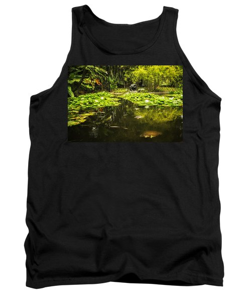 Tank Top featuring the photograph Turtle In A Lily Pond by Belinda Greb