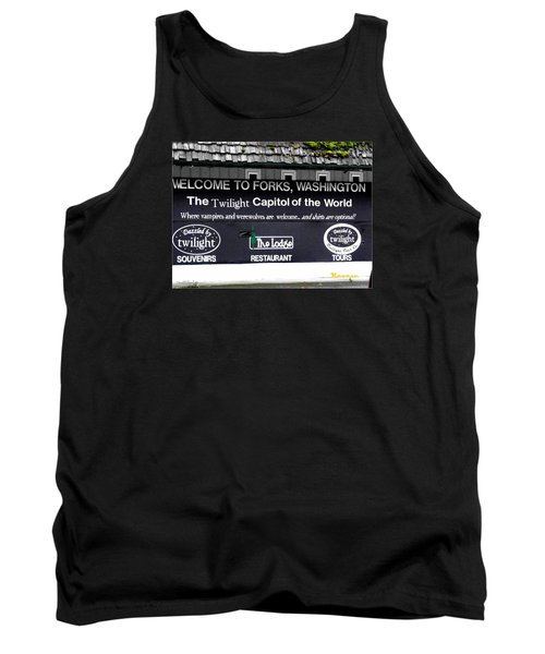 Tank Top featuring the photograph Twilight In Forks Wa 5 by Sadie Reneau
