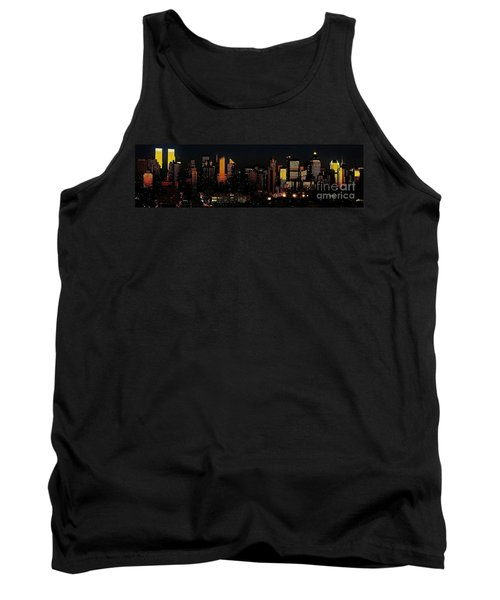 Tank Top featuring the photograph Twilight Reflections On New York City by Lilliana Mendez