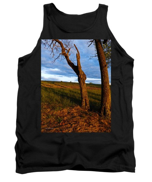 Twisted Tree Tank Top by Nick Kirby