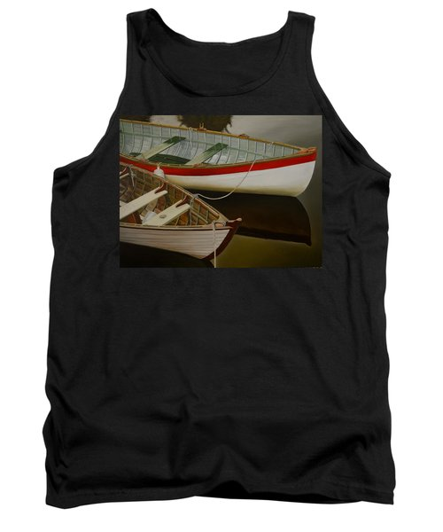 Tank Top featuring the painting Two Boats by Thu Nguyen