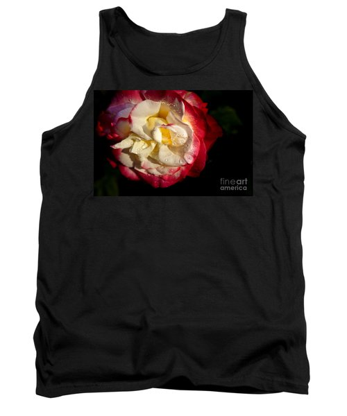 Tank Top featuring the photograph Two Color Rose by David Millenheft